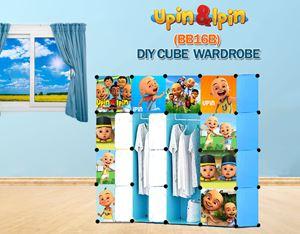 NEW Upin & Ipin BLUE 16C DIY Cube Wardrobe (BB16B)