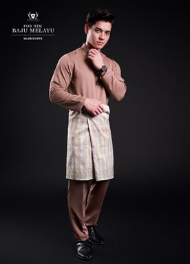 Baju Melayu For Him (Hot Brown)