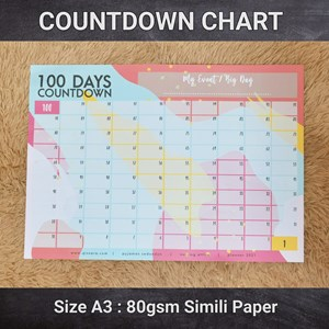 (SPECIAL OFFER) 100 Days Countdown Chart (A3 size)