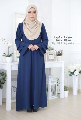 Jubah Neyla Layer Dark Blue