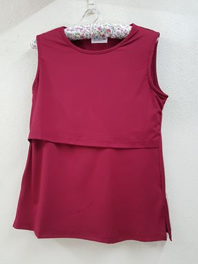 Sleeveless Nursing Inner (Maroon) - Size Big Only