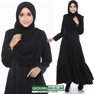 JUBAH JANNAH - BLACK  COLOR