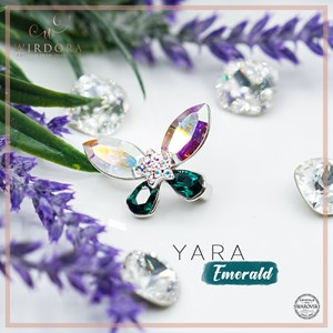 Brooch Yara Aurora Emerald