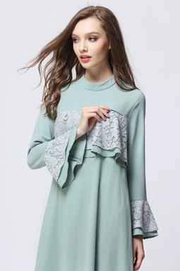DOUBLE LAYER EXCLUSIVE JUBAH - MINT