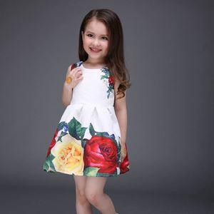 Kids Gown White Big Flower