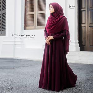 SCHAFERNA EXCLUSIVE MODERN IN JUBAH (ROSE MAROON)