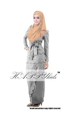 @  HAPPYKIDS SCALLOP  ( WOMAN - GREY  )  S-2XL