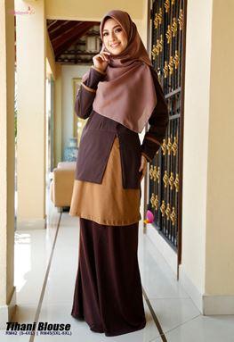 Tihani Blouse (Brown) - Size XL