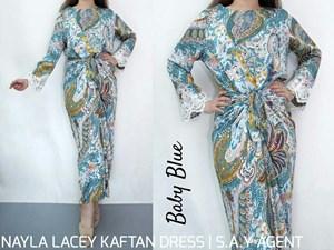 NAYLA LACEY KAFTAN DRESS
