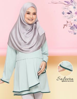 Safeera Blouse - Mint Green (Dark Teal)
