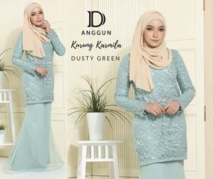 Kurung Karmila Dusty Green