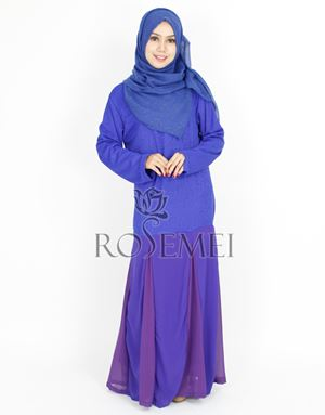 JANNAH DRESS - DARK BLUE