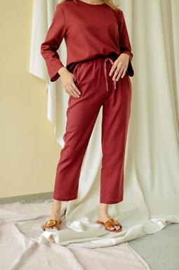 Lucilea Tapered Pants (Cinnamon)