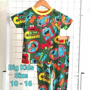Pyjamas ELMO GREEN COOKIE  : SIZE BIG  10 - 16