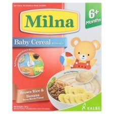 Milna Brown Rice & Banana Baby Cereal 6+ Months 120g