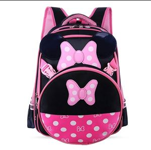 MINNIE MOUSE BAGS FOR GIRLS AND PRIMARY KIDS (BLACK AND PINK)