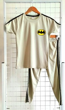 Pyjamas PLAIN BATMAN II Cream - Short Sleeve (Big Size) 9/10y (KWF)