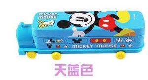 MICKEY MOUSE ( LIGHT  BLUE ) PENCIL BOX WITH SHARPENER