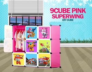 SuperWings Pink 9C DIY Cube Wardrobe (SW9P)