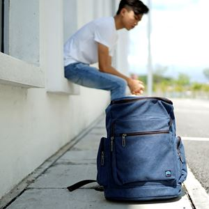 Exclusive Courthouse Backpack (Navy Blue)
