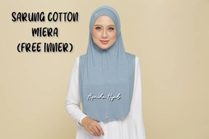 SARUNG COTTON MIERA (FREE INNER) - LELONG