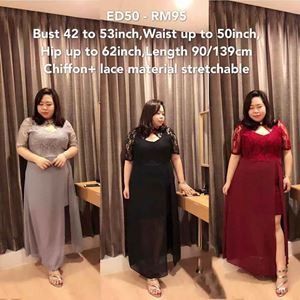 ED50 Ready Stock*Bust 42 to 53inch / 106-134cm