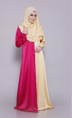 JUBAH AMANDA ( Pink Yellow )