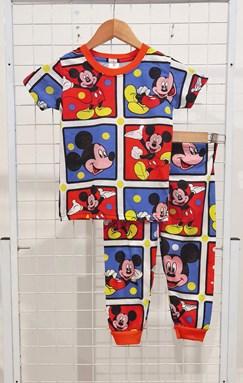BABY 12M , 24M Pyjamas MICKEY BLUE RED CHECKERS (JR)