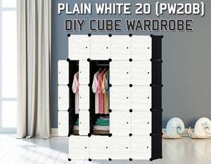 Plain White 20C DIY Wardrobe (PW20B)