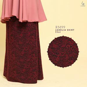 Adelia Skirt LuxeLabel : Red