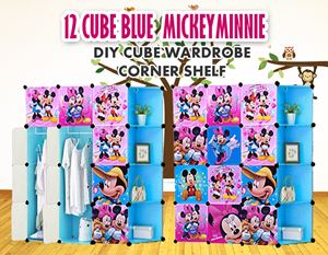 Mickey Minnie Blue 12C DIY Cube w Corner Shelf (MD12CB)