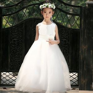 WHITE TRAILING CLAIRA BALL GOWN