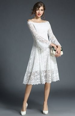 Slim A word Lace Dress
