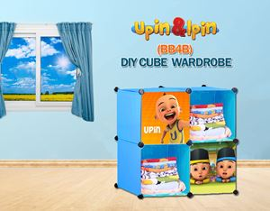 NEW Upin & Ipin BLUE 4C DIY Cube Wardrobe (BB4B)