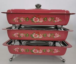 BUFFET VINTAGE TRAY 3pcs/set - RED ( 8L )