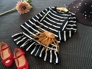 LENNA STRIPED BLACK DRESS (Accessories not included)