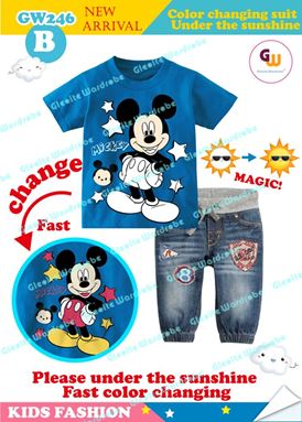 MICKEY MOUSE CHANGING COLOR TOP SET