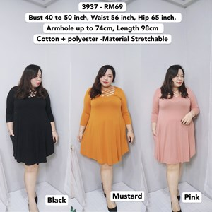 3937 *Ready Stock *Bust 40 to 50 inch /100-127cm