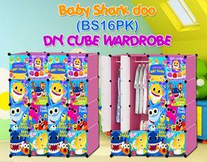 Baby Shark Doo PINK 16C DIY WARDROBE (BS16PK)