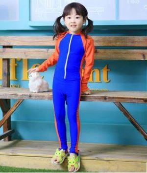 S1140117P  RED BLUE CHILDREN SWIMSUIT ( 3Y-8Y )