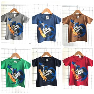 T-Shirt Boy Short Sleeve Batman: Size 2-8 (1 - 6 tahun)