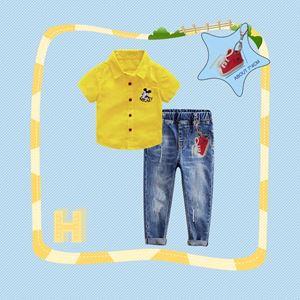 307-H  BOY SET  ( H ) - YELLOW MICKEY ( SHIRT + JEANS )
