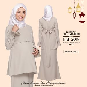 Sri Mahsurri Kurung - Pewter Grey