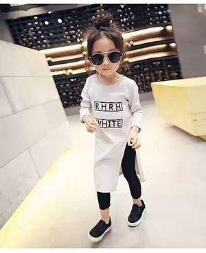 Kids Top + Legging - White Cream