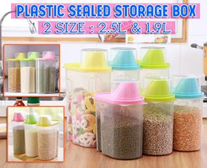 Plastic Sealed Storage Box (2 size : 2.5L & 1.9L)