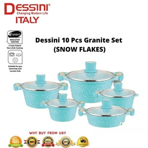 10 pcs Dessini Granite Diamond Cookware Set