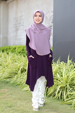 CATHERINE IRONLESS BLOUSE IN DARK PURPLE