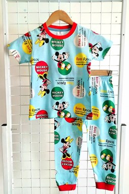 Pyjamas MICKEY MOUSE FREE SPACE BLUE :  BIG Size 12  (HF)