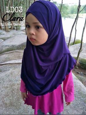 CLARA Instant Shawl - LD03 ( Purple )