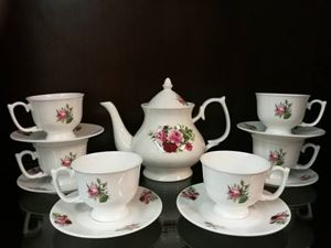 14PCS TEA SET F2 (VANTAGE PINK)